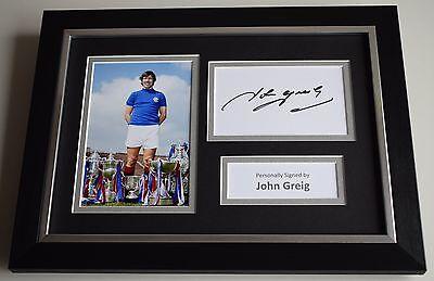 John Greig Signed A4 FRAMED photo Autograph display Rangers Football PROOF & COA