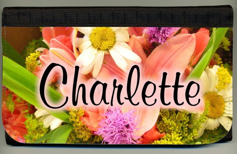 Personalized Custom Floral Color Photo Ladies Wallet Credit Card Coin Holder NEW