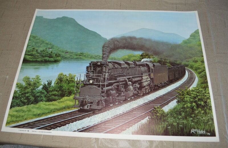 Chesapeake & Ohio Railroad Poster Print Coal Train Allegheny 2-6-6-6