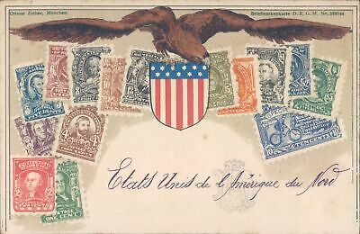 USA American stamps philatelic PC 1900s