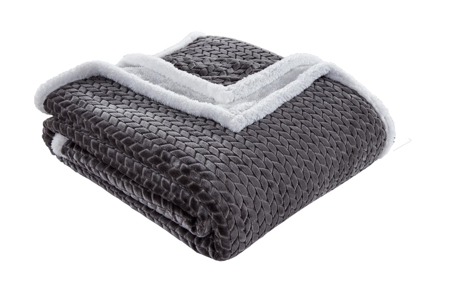 Braided Oversized Ultra Plush Sherpa Blanket Covers - Assort