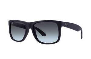 53dc987c24f8fe Ray-Ban Justin Black Frame Grey Gradient Sunglasses RB4165 601 8G55 ...