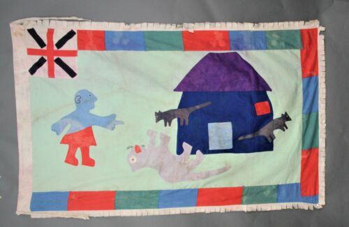 Asafo Flag,Frankaa War Flag Fante /Fanti Ghana ,Applique,Textile Art,Drapeau