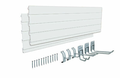 48in Tool Board Wall Mounted Panels Pegboard 6pcs Hooks Warehouse Shelf Storage