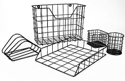 Sorbus 5-piece Desk Organizer Set Accessories Set For Home Or Office - Black