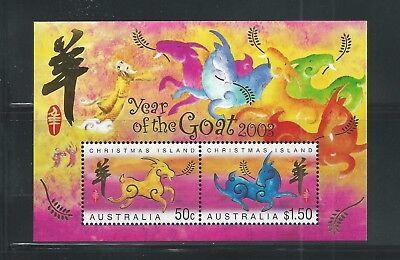 Christmas Island MNH SS Year of the Goat 2003