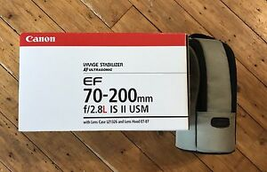 Canon 70-200mm f/2.8L IS USM.... LIKE NEW... RARELY USED