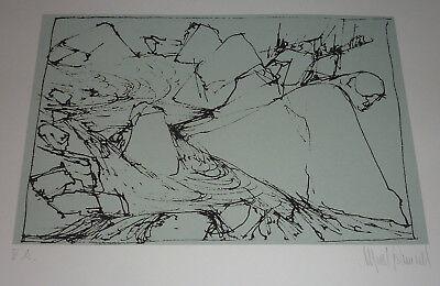 Heidarhorn Island Litho Abstrakter Expressionismus Alfred Schmidt MoMa New York