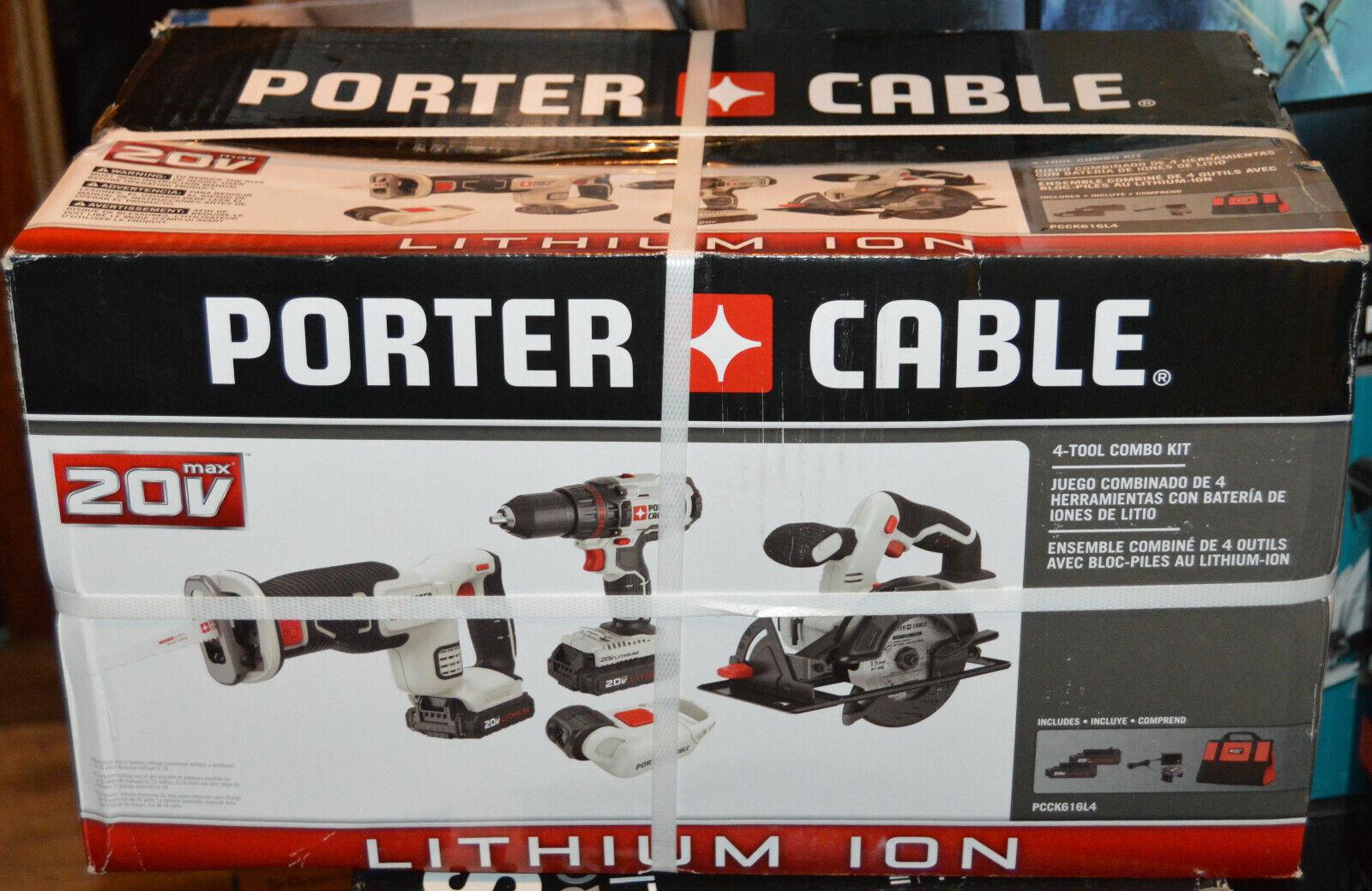 PORTER CABLE PCCK616L4 Circle Saw & Drill Combo Kit Cordless