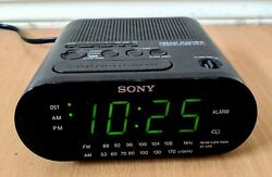 Vintage Sony Dream Machine FM/AM Alarm Clock Radio ICF-C218 w/Auto Time Set