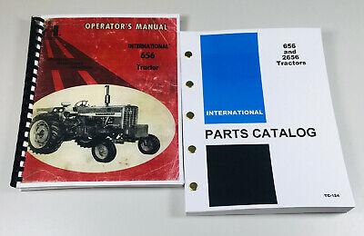 Set International Farmall 656 Tractor Owner Operator Parts Manuals Catalog Book