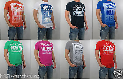 NWT HOLLISTER 2013 Men Muscle Slim Fit Laguna Hills T Shirt Tee By Abercrombie