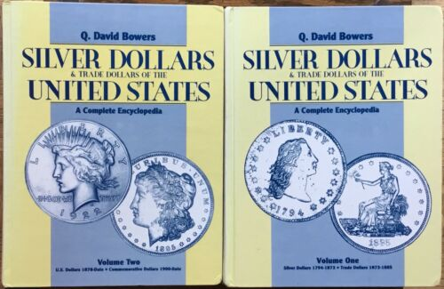 2 VOLS Bowers Silver & Trade Dollars of United States Complete Encyclopedia