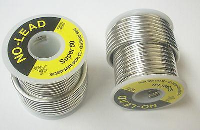 4 No-lead 1 Lb. Spool Super 50 Plumbing Copper Welding Lead Free Solder Lsf