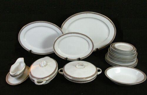 Electra H & Co Heinrich Violet Gold Floral Dinnerware Service Ware Accessories