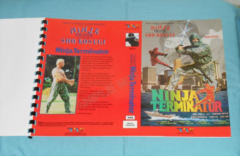vintage TWE ADVERTISING BROCHURE Sho Kosugi Ninja Theater Ninja Terminator