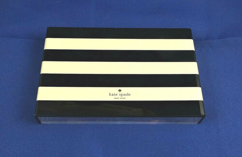 Kate Spade Two (2) Piece Plastic Black and White Striped Store Display