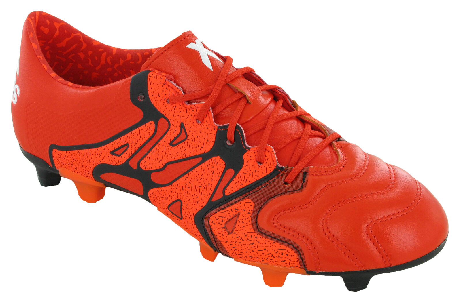 bc21284b2249 Adidas Mens Leather Football Boots Moulded Studs X15.1 FG AG UK 6-12 -  (B26979)