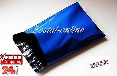 100 x Blue Plastic Mailing Bags 10 x 14 10x14 245x345 mm STRONG 100x envelopes