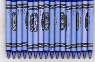 16 Crayola Crayons - Bulk lot - Cerulean - Great for crafting - FREE - Cerulean Blue Crayon