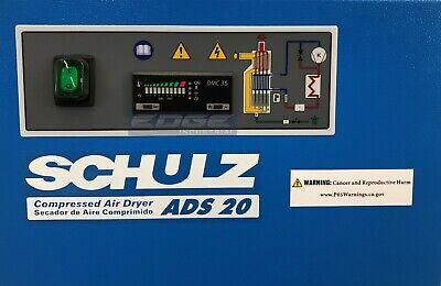 NEW SCHULZ 20 CFM REFRIGERATED COMPRESSED AIR COMPRESSOR DRYER 115V, COMPLETE KIT