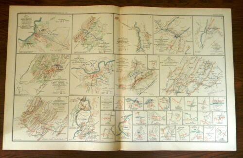 ORIGINAL CIVIL WAR ATLAS MAPS; HOTCHKISS:  VIRGINIA BATTLE-FIELDS; VALLEY DISTR.