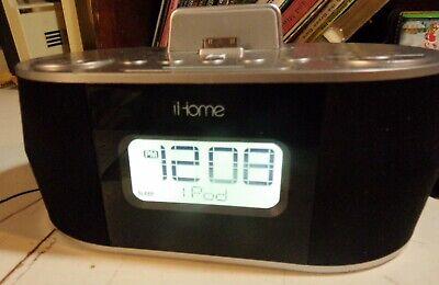 iHome iD38 Apple Dock Cradle Speaker Clock Radio Timer Alarm iPod iPad iPhone