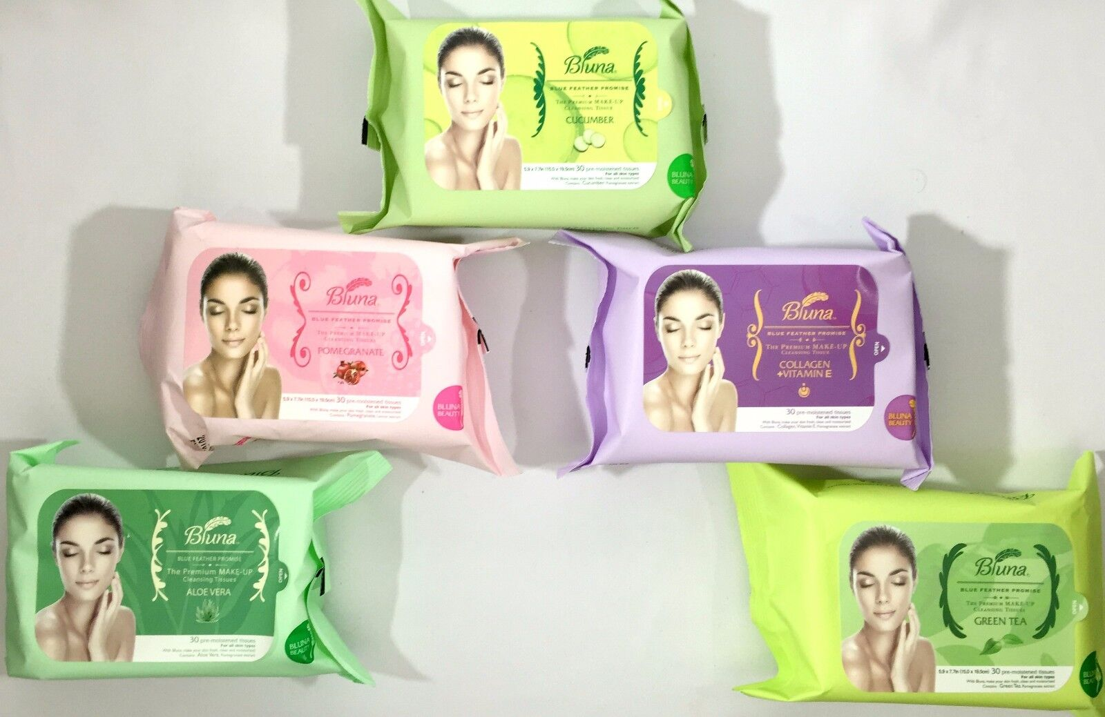 Bluna Make Up Remover Cleansing facial Wipes towelettes Face