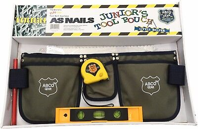 ABCO Junior Kids Nylon Tool Belt Apron with Accessories *NEW* Childrens Child