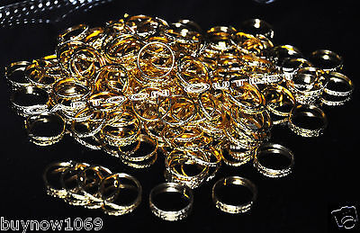 144 pcs GOLD RINGS BANDS WEDDING FAVORS TABLE DECORATIONS RECUERDOS BODA ANILLOS - Wedding Table Favors