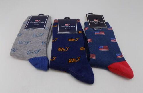 Vineyard Vines  Whale Socks for Boys One Size - SET / LOT 3 PAIRS SOCKS A-8