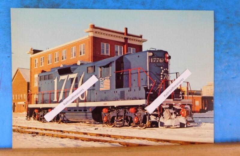 Postcard Central Vermont Grand Trunk locomotive #1776 9X6 inches