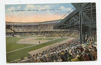PC Detroit Michigan Navin Field Tigers Baseball Stadium 1937 Major League Team