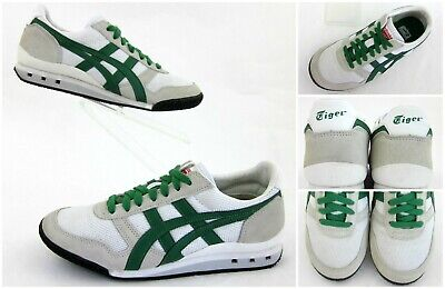Asics Onitsuka Tiger Ultimate 81 Sneakers White/Green Mens 5 Womens 6.5 Mint!