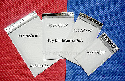 80 Poly Bubble Envelope Variety Pack 4 Small To Medium Sizes Padded Mailers