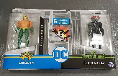 Spinmaster DC 1st Edition Aquaman Vs Black Manta Action Figure Set NIP