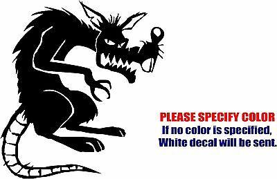 Evil Rat - Evil Rat Mouse Decal Sticker JDM Funny Vinyl Car Window Bumper Truck Trailer 6