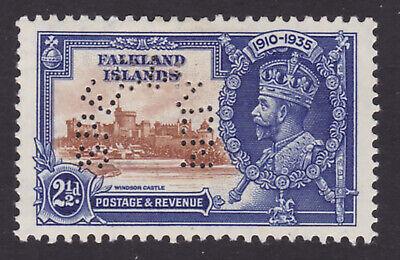 Falkland Islands. SG 140s, 2 1/2d brown & deep blue, specimen. Mounted mint.