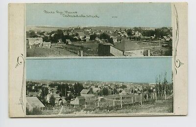Postcard - Oakesdale, WA - Birds Eye Multiview of Early Town Settlement - 2of2