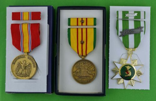 Vietnam Campaign, Service, National Defense Medals & Ribbons 1 Campaign Star T1