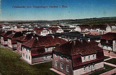 Ohrdruf in Thüringen, Totalansicht vom Truppenlager, um 1910/15