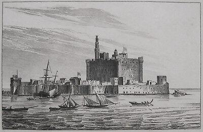 LEUCHTTURM VON PHAROS ALEXANDRIA 1835 ÄGYPTEN EGYPT ALEXANDRIEN WELTWUNDER