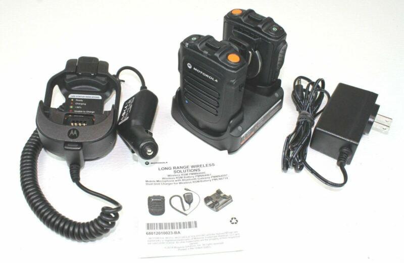 Pair of Motorola PMMN4095 Wireless/Bluetooth RSM
