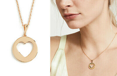 "Kate Spade Heart Mini Gold Tone Pendant Necklace Symbols 16"" NWT $58"