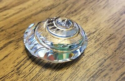 Swarovski Crystal Clear Spiral Top Shell Paperweight 9100, Mint, Box, Logo, COA