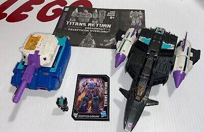 Transformers Titans Return Dreadnaut & Decepticon Overlord Leader Class Hasbro