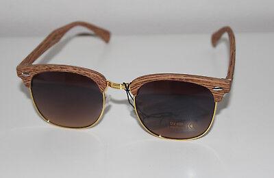Oramics Sonnenbrille Coffee Woods Style trendige Retro Vintage Brille UV400