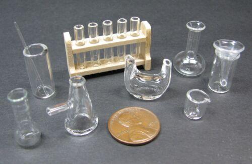 1:12 MINIATURE Dollhouse Witch Wizard LABORATORY GLASS Chemistry Beaker Flask