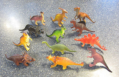 "10 NEW LARGE ASSORTED TOY DINOSAURS 6"" DINOSAUR FIGURES DINO ANIMAL KIDS PLAYSET"