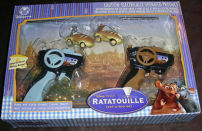 Disney Pixar Ratatouille Remy and Emile Remote Control Racers-NEW - Never Opened